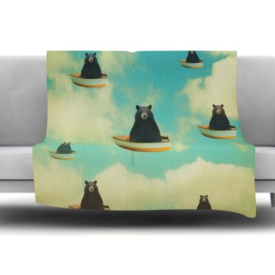 Bears by Natt Fleece Throw Blanket Size: 40 L x 30 W