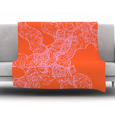 Mandala Pumpkin by Patternmuse 30 Fleece Blanket