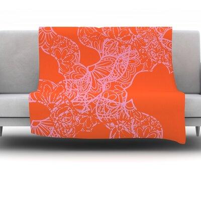 Mandala Pumpkin by Patternmuse 60 Fleece Blanket
