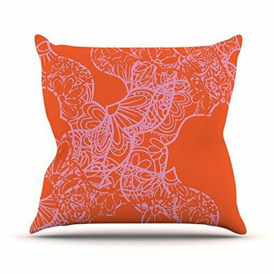 Mandala Pumpkin by Patternmuse Throw Pillow Size: 16 H x 16 W