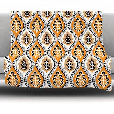 Oak Leaf by Jacqueline Milton 80 Fleece Blanket