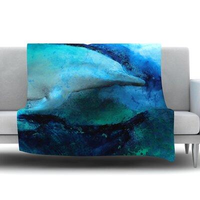 Dolphin by Josh Serafin Fleece Blanket Size: 60 L x 50 W