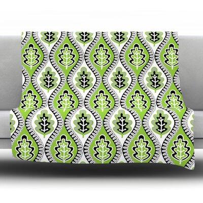 Oak Leaf by Jacqueline Milton 80 Fleece Blanket Size: 80 L x 60 W