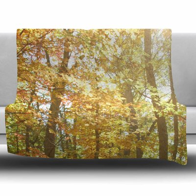Autumn Trees 2 by Sylvia Coomes Fleece Blanket Size: 80 L x 60 W
