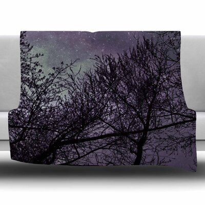 Sky by Sylvia Coomes Fleece Blanket Size: 80 L x 60 W