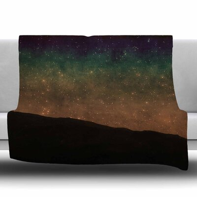 Star Light by Sylvia Coomes Fleece Blanket Size: 80 L x 60 W