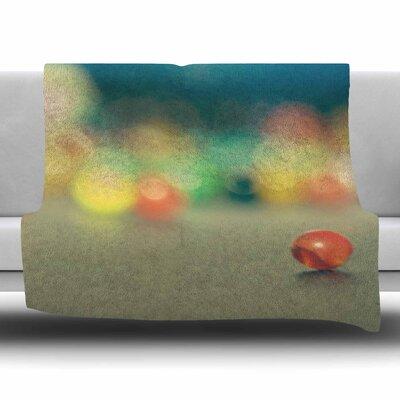 Marble Bokeh by Sylvia Coomes Fleece Blanket Size: 80 L x 60 W