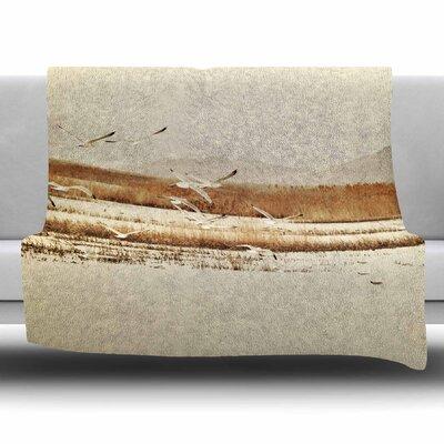 Nautical Flight by Sylvia Coomes Fleece Blanket Size: 80 L x 60 W