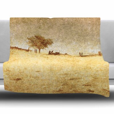 One Tree by Sylvia Coomes Fleece Blanket Size: 40 L x 30 W