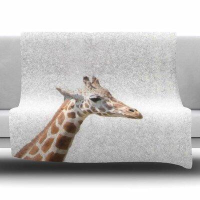 Giraffe by Sylvia Coomes Fleece Blanket Size: 80 L x 60 W