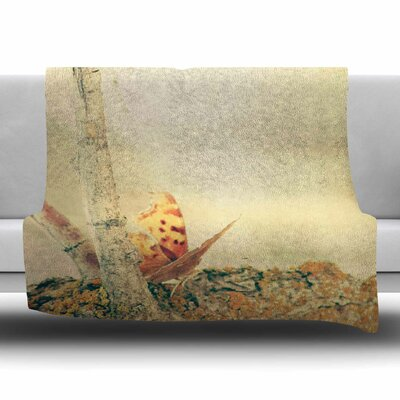 Monarch Butterfly by Sylvia Coomes Fleece Blanket Size: 80 L x 60 W