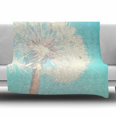 Dandelion by Sylvia Coomes Fleece Blanket Size: 80 L x 60 W