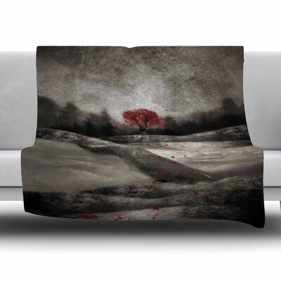 The Red Sounds And Poems 1 by Viviana Gonzalez Fleece Blanket Size: 80 L x 60 W