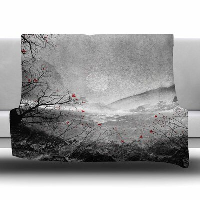 The Red Sounds And Poems by Viviana Gonzalez Fleece Blanket Size: 80'' L x 60'' W