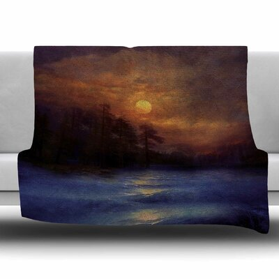 Hope in The Blue Water by Viviana Gonzalez Fleece Blanket Size: 80 L x 60 W