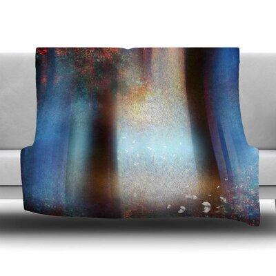 Hope in Blue Part II by Viviana Gonzalez Fleece Blanket Size: 80'' L x 60'' W