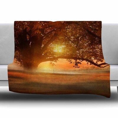 Romance in Autumn by Viviana Gonzalez Fleece Blanket Size: 80 L x 60 W