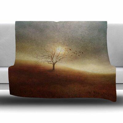 Lone Tree Love I by Viviana Gonzalez Fleece Blanket Size: 80 L x 60 W
