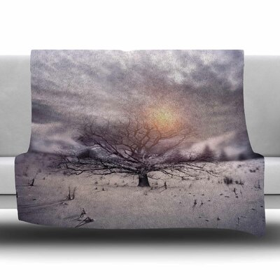 Lone Tree Love II by Viviana Gonzalez Fleece Blanket Size: 80 L x 60 W