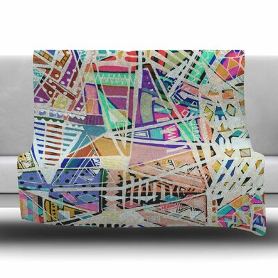 Abstract Geometric Playground by Vasare Nar Fleece Blanket Size: 80 L x 60 W