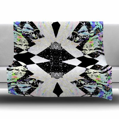 Abstract Zebra by Vasare Nar Fleece Blanket Size: 80 L x 60 W