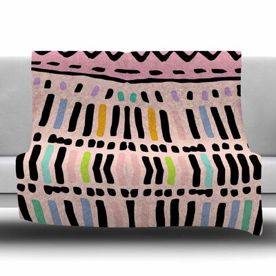 Native Pastel by Vasare Nar Fleece Blanket Size: 80 L x 60 W