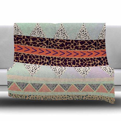 Animal Print by Vasare Nar Fleece Blanket Size: 80 L x 60 W