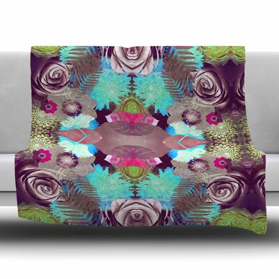 Kaleidoscopic Boho by Vasare Nar Fleece Blanket Size: 80 L x 60 W