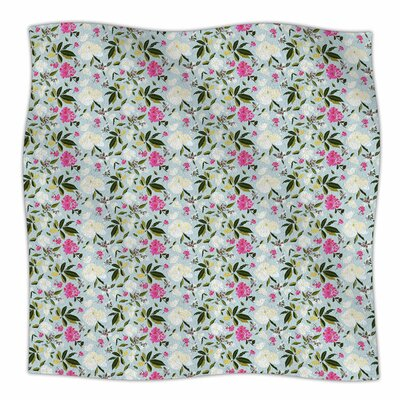 Romantic French Park by Mayacoa Studio Fleece Blanket Size: 80 L x 60 W