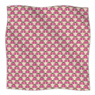 Rosea by Mayacoa Studio Fleece Blanket Size: 80 L x 60 W