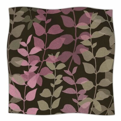 Leaves of Fantasy 2 by Carolyn Greifeld Fleece Blanket Size: 80 L x 60 W