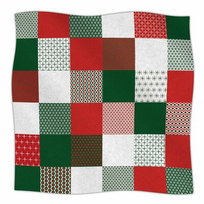 Holiday Patchwork by Carolyn Greifeld Fleece Blanket Size: 80'' L x 60'' W