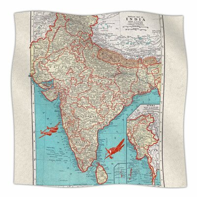 Travel To India by Catherine Holcombe Fleece Blanket Size: 80 L x 60 W