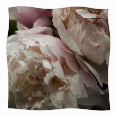 Peonies by Cristina Mitchell Fleece Blanket Size: 80'' L x 60'' W