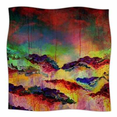 Its A Rose Colored Life 4 by Ebi Emporium Fleece Blanket Size: 80 L x 60 W