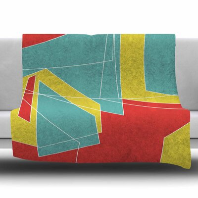 Cartagena Walls by MaJoBV Fleece Blanket Size: 80 L x 60 W