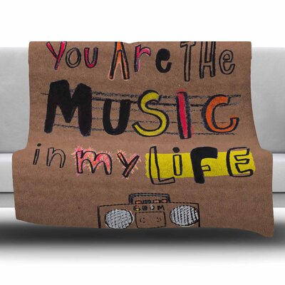 Music In My Life by MaJoBV Fleece Blanket Size: 80 L x 60 W