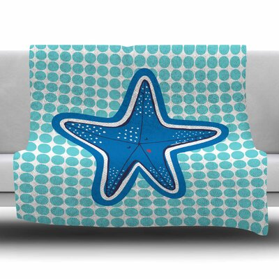 Estrella De Mar by MaJoBV Fleece Blanket Size: 80 L x 60 W