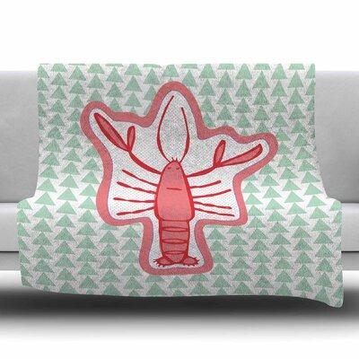 Langosta by MaJoBV Fleece Blanket Size: 80 L x 60 W