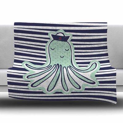 Pulpo by MaJoBV Fleece Blanket Size: 80 L x 60 W