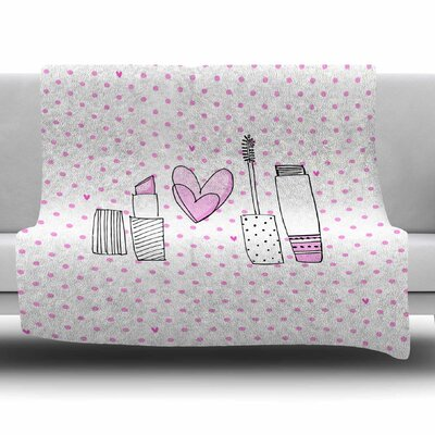 Girls Luv by MaJoBV Fleece Blanket Size: 80 L x 60 W