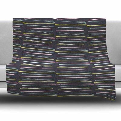 Rosewall Thorns by MaJoBV Fleece Blanket Size: 80 L x 60 W