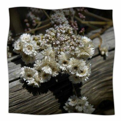 Rustic Flowers by Nick Nareshni Fleece Blanket Size: 80 L x 60 W