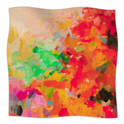 La Rochelle-Abstract by Oriana Cordero Fleece Blanket Size: 80 L x 60 W