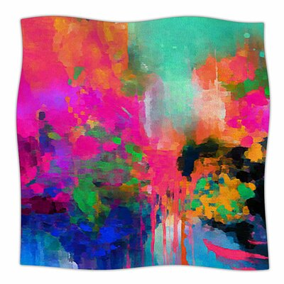 Montesilvano-Abstract by Oriana Cordero Fleece Blanket Size: 80 L x 60 W