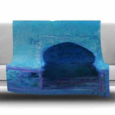 Chefchaouen-Blue City by Oriana Cordero Fleece Blanket Size: 80 L x 60 W