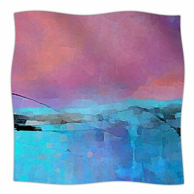 Versailles-Abstract by Oriana Cordero Fleece Blanket Size: 80 L x 60 W