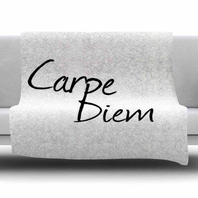 Carpe Diem by Oriana Cordero Fleece Blanket Size: 80 L x 60 W