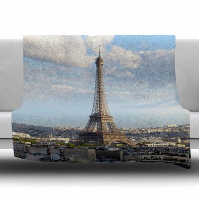 Eiffel Tower by Philip Brown Fleece Blanket Size: 80 L x 60 W