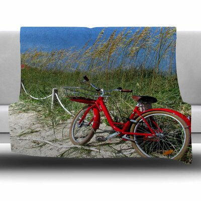 A Day At The Beach by Philip Brown Fleece Blanket Size: 80 L x 60 W